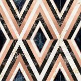 Tapet Imprimat Digital Diamonds in Copper