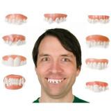 Dinti falsi haiosi, proteze dentare amuzante, latex, set 9 bucati, PRC