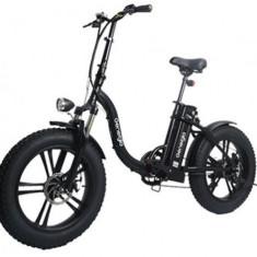 Bicicleta electrica LVNENG LVNM05NG, Roti 20inch, Viteza maxima 25km/h, Autonomie 70 Km, Motor 220 W (Negru)