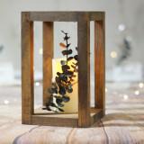 Suport lumanare din lemn Merry 112, l14xA14xH23 cm