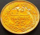 Moneda EXOTICA COMEMORATIVA 25 PIASTRI / PIASTRES - LIBAN, anul 1969  *cod 3172, Asia