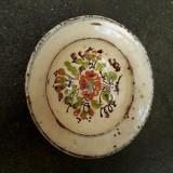 2. Farfurie veche din ceramica pentru agatat pe perete blid vechi lut 21 cm