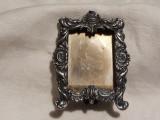 RAMA FOTO argint VECHE manopera EXCEPTIONALA cu PICIOR patina MINUNATA rara