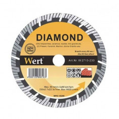 Disc de fierastrau segmentat turbo diamant (230 mm) WERT