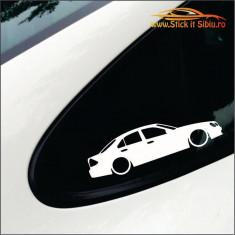 Mercedes sihlouette -Stickere Auto-Cod:ESV-232 -Dim  15 cm. x 9.3 cm.