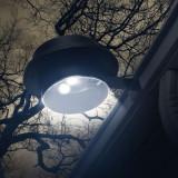 Lampa solara pentru stresini si garduri cu 3 LED-uri, negru - 11445BK