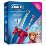 Cumpara ieftin Periuta electrica Oral-B Cross Action + Vitality Kids Frozen