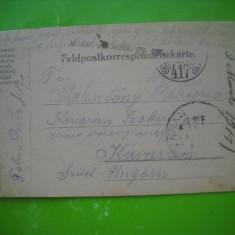 HOPCT 179 T CARTE POSTALA PRIZONIERI DE RAZBOI-C DAICOVICIU CARAS SEVERIN 1917