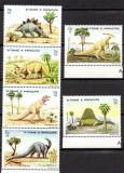 SAO TOME PRINCIPE 1982, Fauna, Animale preistorice, Dinozauri, MNH, Nestampilat