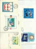 Romania FDC - lot FDC colite nedantelate si FDC martisor, Stampilat