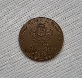 "Medalie Targul Mosilor 1924 - Ferdinand I - "" Prin munca la lumina """