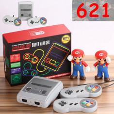 Consola de jocuri retro Super Mini, 621 de jocuri, HDMI, gri