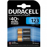 Set 2 baterii Duracell Ultra 123, 3 V