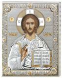 Icoana Iisus Hristos ClassGifts pe Foita de Argint 925 Auriu 12x15.5cm Cod Produs 1708