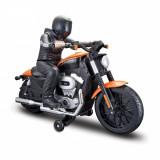 Motocicleta cu telecomanda Maisto Harley-Davidson Nightster XL 1200N, Portocaliu