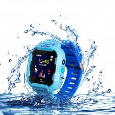 Wonlex KT03 Ceas copii Rezistent la apa, functie telefon, camera, monitorizare spion, GPS, WIFI (+ bratara fitness CrabTECH™)