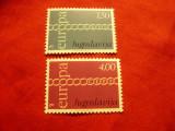 Serie Iugoslavia 1971 - Europa CEPT , 2 valori, Nestampilat