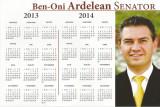 Romania, Ben-Oni Ardelean, senator, USL, calendar electoral, 2013-2016