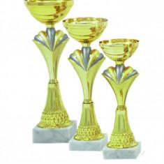 Set Cupa metal-plastic-marmura, 27 cm Locul I, 24 cm Locul II, 21 cm Locul III