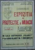 Afis Expozitia de Protectie a Muncii, Ilfov 1971