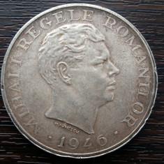 (A124) MONEDA DIN ARGINT ROMANIA - 100.000 LEI 1946, MUCHIE DUBLA