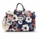 Cumpara ieftin Husa Upzz Tech Briefcase Canvaslife Sleeve Compatibila Cu Laptop / Macbook 15-16 Inch Blue Camellia
