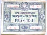 B323-I-CEC-RSR-Obligatiune 200 lei. Marimi: 16.5/ 12.5 cm.