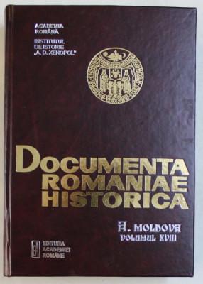 DOCUMENTA ROMANIAE HISTORICA - A . MOLDOVA , VOLUMUL XVIII (1623 - 1625) , volum intocmit de I. CAPROSU si V . CONSTANTINOV , 2006 foto