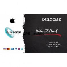 Deblocare Oficiala Apple iPhone Vodafone UK - iPhone X IMEI Curat