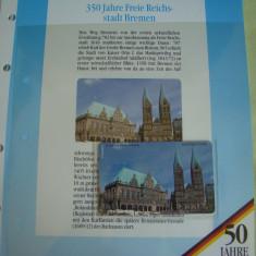 """3 Cartele Telefonice """"50 Jahre Deutschland"""" - Exponate NOI / 24"""