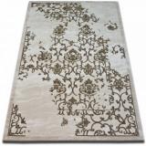 Covor acril Beyazit 1798 fildeş si maro, 120x180 cm