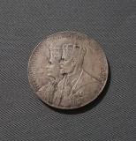 Medalie rara Regele Ferdinand și regina Maria - expo. Basarabiei 1925 Chisinau