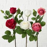 Cumpara ieftin Fir floare artificiala Flowery Multicolor, Modele Asortate, H63 cm