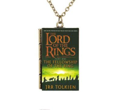 Pandantiv / Colier / Lantisor - Lord Of The Rings / Stapanul Inelelor - Carte foto