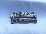 BROSA argint FRANTA 1900 art nouveau RARA vintage SUPERBA model DE EFECT