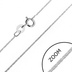 Lănțișor din argint - elemente de legătură în formă de tije lucioase, rotunjite, 0,6 mm