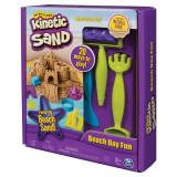 Nisip kinetic Spin Master modelabil cu accesorii pentru plaja 20 moduri de joaca - Kinetic Sand