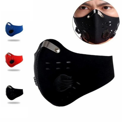 Masca fata cu filtru anti poluare, protectie frig bicicleta, trotineta electrica foto
