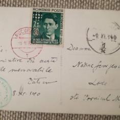 CP 1940, Arhanghelul Mihail, timbru Zelea Codreanu, legionari, Nadine Georgescu