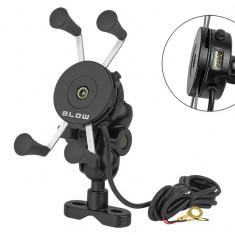 Suport de telefon pentru bicicleta si motocicleta cu incarcator USB