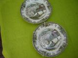 Portelan englezesc Jhonson Bros,  2 farfurioare decorative