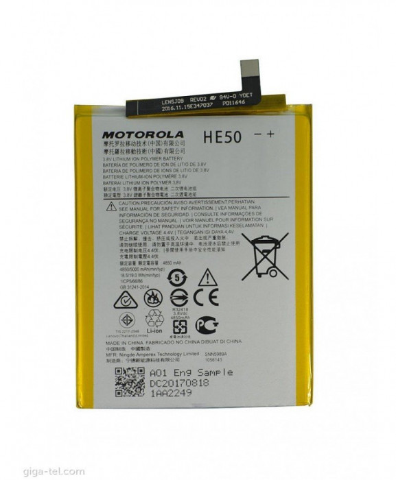 Acumulator Motorola HE50, E4 Plus, E5 PLus, Moto One