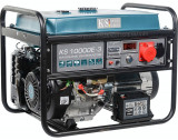 Generator curent trifazat profesional KS10000E-3 Könner&Söhnen, Germany, benzina, 8.0 kW, 18cp, autonomie 15h, 1x16A (230V), 1x16A (400V), 12V, protec