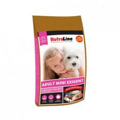 Nutraline Dog Adult Mini Exigent, 1kg, hrana caini talie mica mofturosi