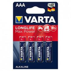 BATERIE ALCALINA LR03 MAX POWER VARTA BL 4BUC