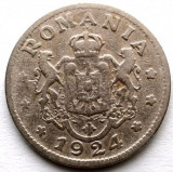 ROMANIA , 1 LEU 1924 ,  monetaria Bruxelles, Crom
