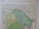 Harta Tarilor Romane de Hafius la 1744