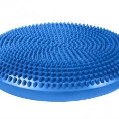 Perna pentru echilibru si masaj gonflabila, diametru 34 cm, albastru