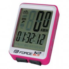Ciclocomputer Force 12F fara fir roz