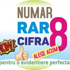 Numar RAR cifra 8 - VIP - aur usor gold platina - numere cartela usoare cartele